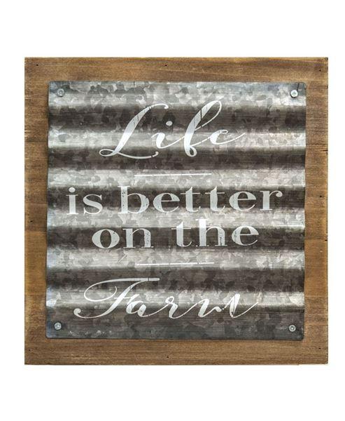 Farm Life Corrugated Metal Sign