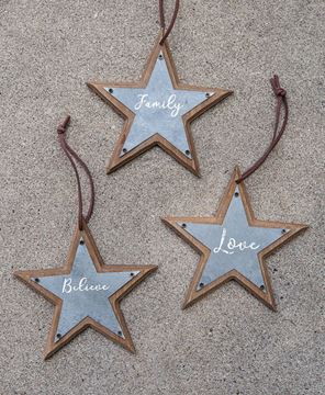 Star Ornaments, 3/Set