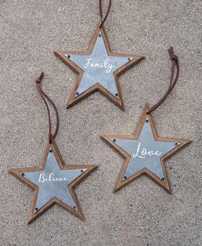 Star Ornaments, 3/Set