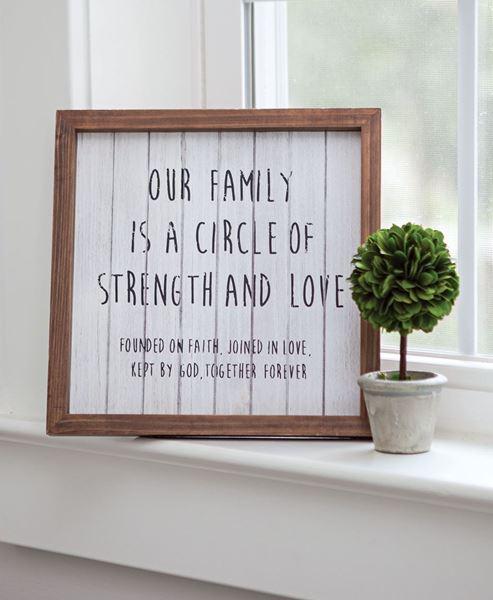 Our Family Framed Shiplap Sign