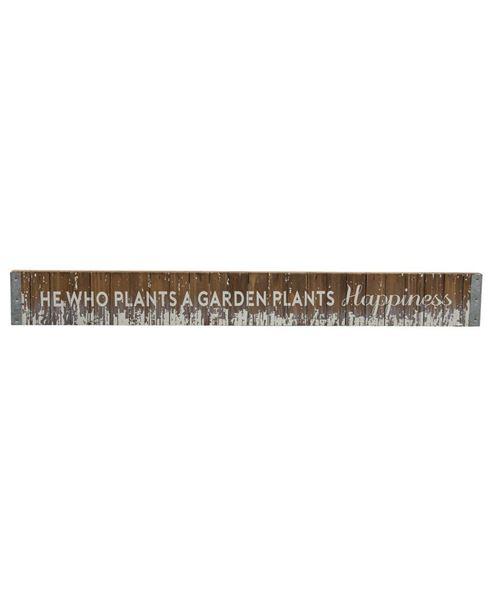Plant Happiness Wood Slat Sign