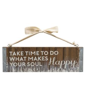 Happy Soul Slatted Wood Hanger