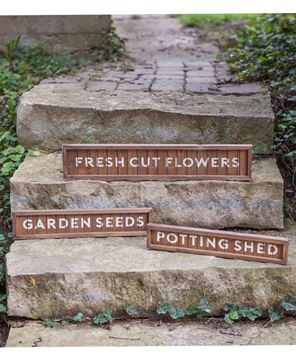 Potting Shed Slatted Wood Sign