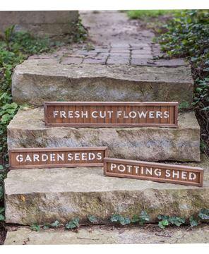 Potting Shed Slatted Wood Sign