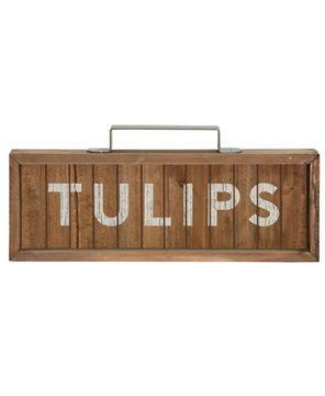 Tulips Slatted Wood Sign w/ Handle