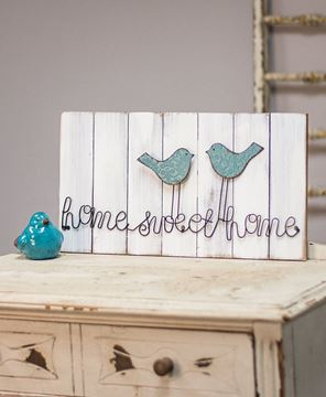 Home Sweet Home Wire Bird Sign