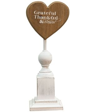 Grateful & Thankful Pedestal, 11""