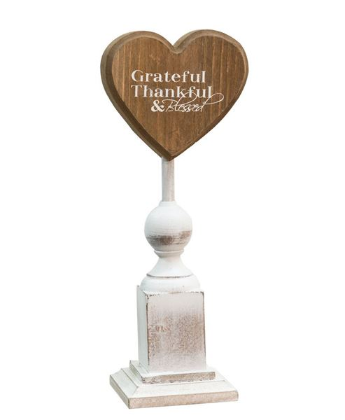 "Grateful & Thankful Pedestal, 9¼"""