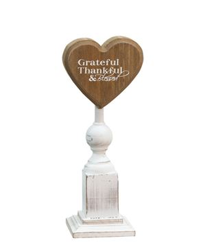 Grateful & Thankful Pedestal, 7""