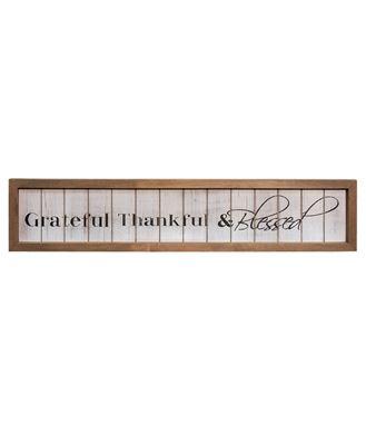 Thankful & Blessed Framed Shiplap Sign