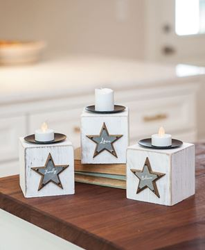Believe, Family, Love Candle Blocks