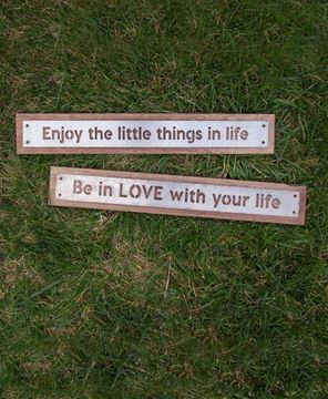 Enjoy the Little Things Metal Sign, 2/asst