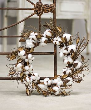 Cotton and Twig Wreath