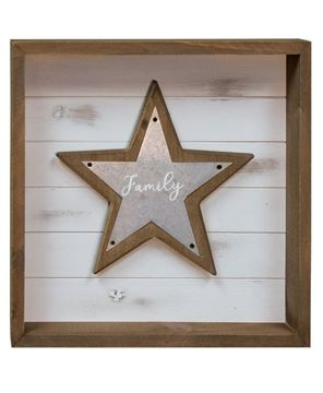 Picture of Believe, Family, Love Shadowbox Sign, 3 Asst.