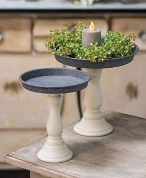 Small Metal Candle Tray