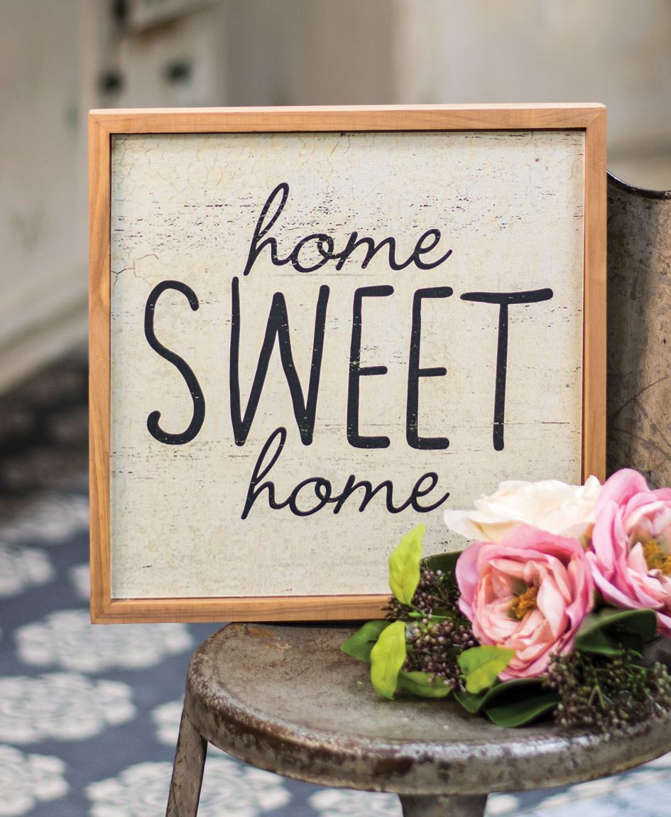 Col House Designs - Wholesale| Framed Home Sweet Home Sign ...