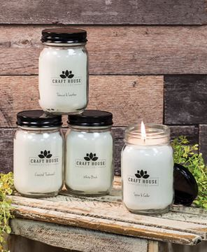 Picture of Country Retreat Pint Jar Candles 12/set