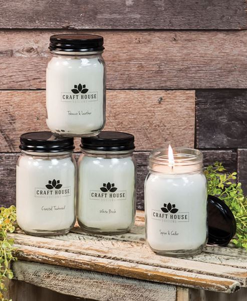 Craft House Designs Wholesale Country Retreat Pint Jar Candles 12