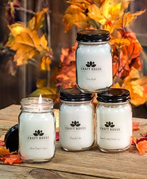 Picture of Fall Collection Pint Jar Candles, 12/set