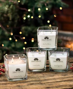 Picture of Holiday Collection Square Candles, 12/set