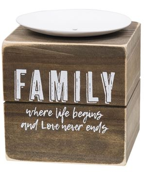 Picture of Family Where Life Begins Candle Block
