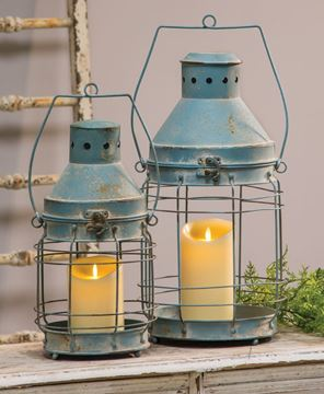 Picture of Rustic Double Lanterns, 2/set