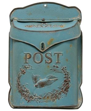 Picture of Rustic Blue Post Box