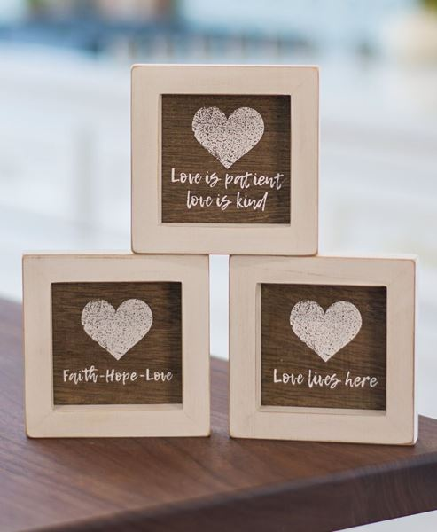 Picture of Love Lives Here Mini Signs, 3 asst.