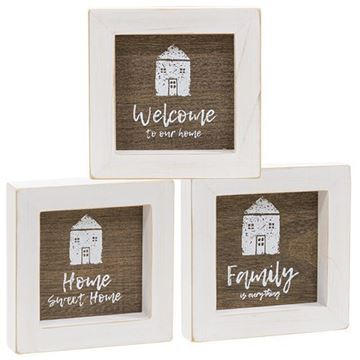 Picture of Welcome to Our Home Mini Signs, 3 Asstd.
