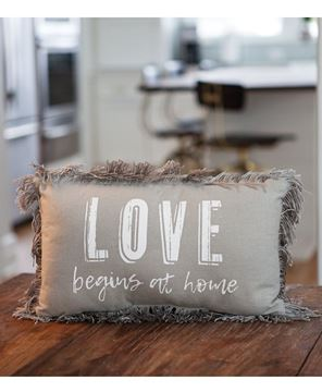 Picture of Love Begins at Home Pillow