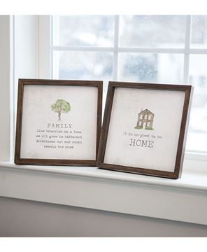 """Picture of Framed Watercolor Art, 10"""" - Family, 2 Asstd."""
