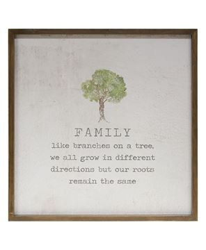 "Picture of Framed Watercolor Wall Art, 20"" - Family"