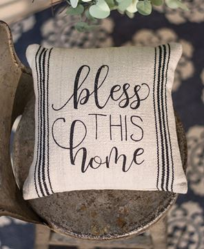 """Picture of Bless This Home Pillow, 10"""""""