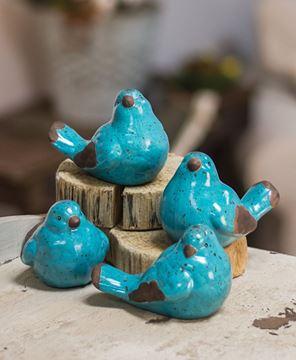 Picture of Resin Blue Birds, 4 Asstd.
