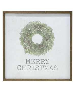 """Picture of Framed Watercolor Wall Art - Christmas, 20"""""""
