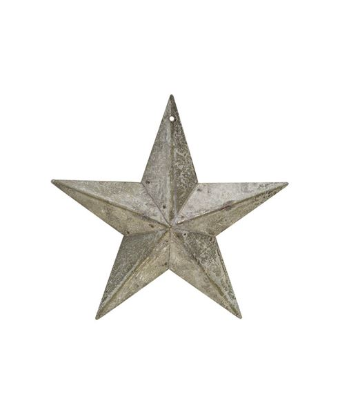 """Picture of Galvanized Metal Star, 5½"""""""