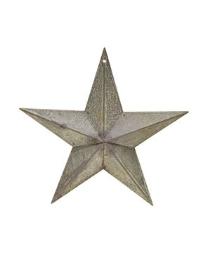 """Picture of Galvanized Metal Star, 8"""""""