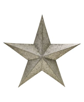 """Picture of Galvanized Metal Star, 18"""""""