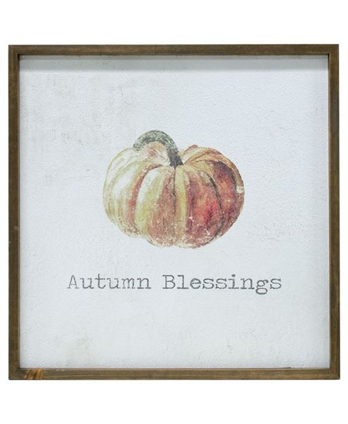 """Picture of Framed Watercolor Wall Art - Autumn, 20"""""""