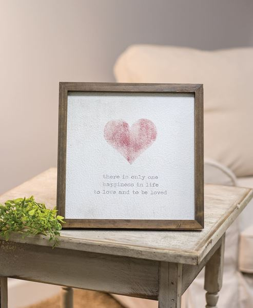 Picture of Framed Watercolor Art - Heart, 10""