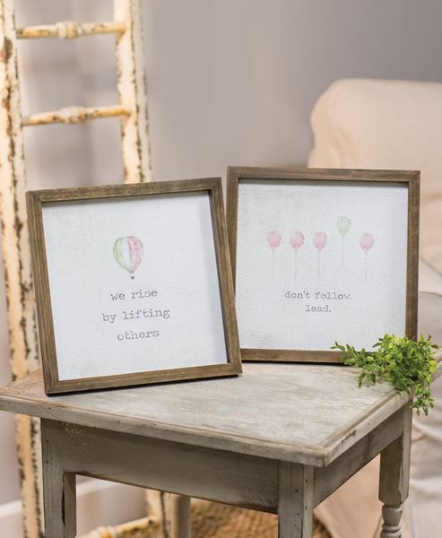 """Picture of Framed Watercolor Art, 10"""" - Rise, 2 asst."""