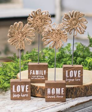 Picture of Love Begins Here Twine Flower Pedestal