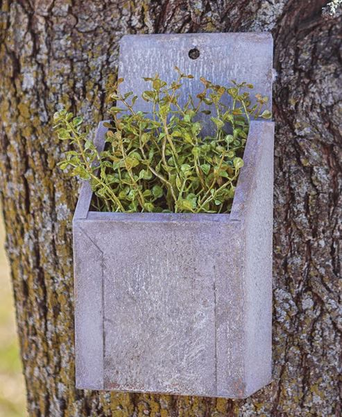Picture of Washed Galvanized Wall Flower Box