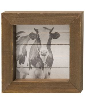 Picture of Simply Farmhouse Block - Cow