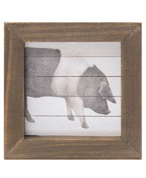 Picture of Simply Farmhouse Block - Pig