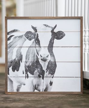 Picture of Simply Farmhouse Wall Sign - Cow