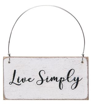 Picture of Live Simply Ornament, 3 Asstd.
