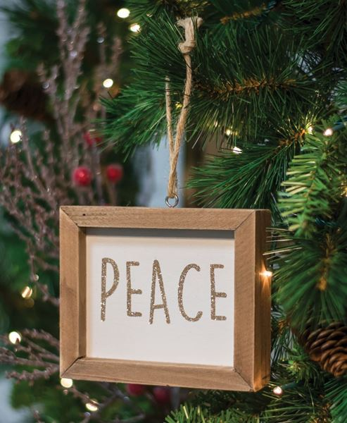 Craft House Designs Wholesale Peace Frame Ornament Craft House