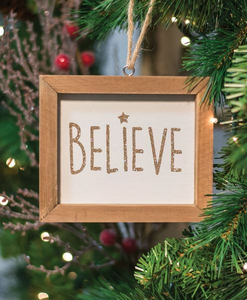 Craft House Designs Wholesale Believe Frame Ornament Craft
