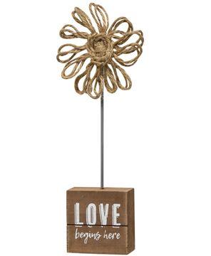 Picture of Love Begins Here Twine Flower Pedestal